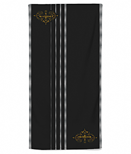 Continental Hotel Beach Towel Inspired by John Wick for Beach, Pool or Gym